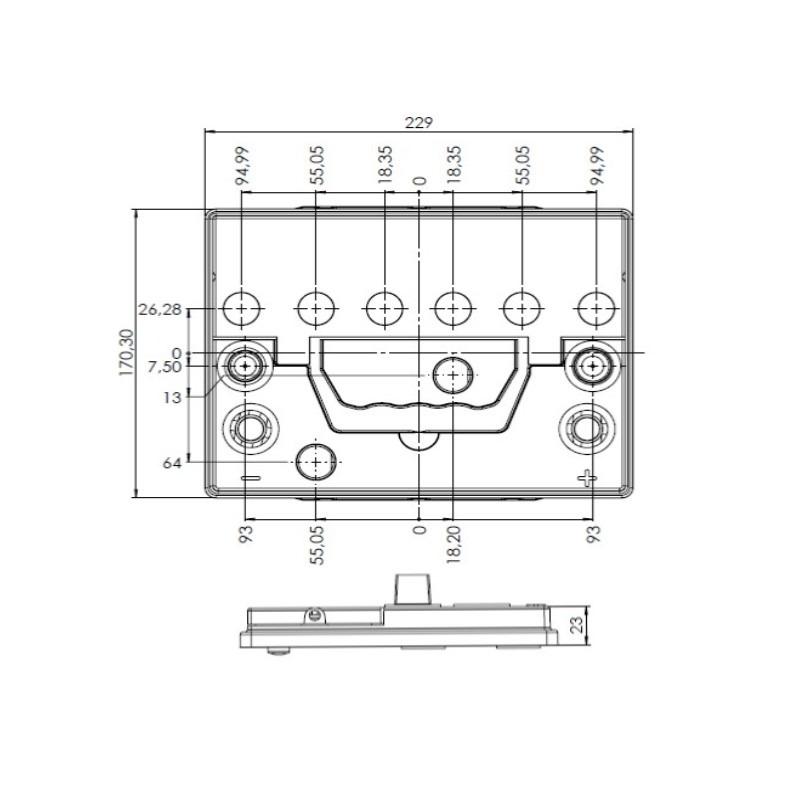 Desenho Técnico Tampa 55D23 FREE