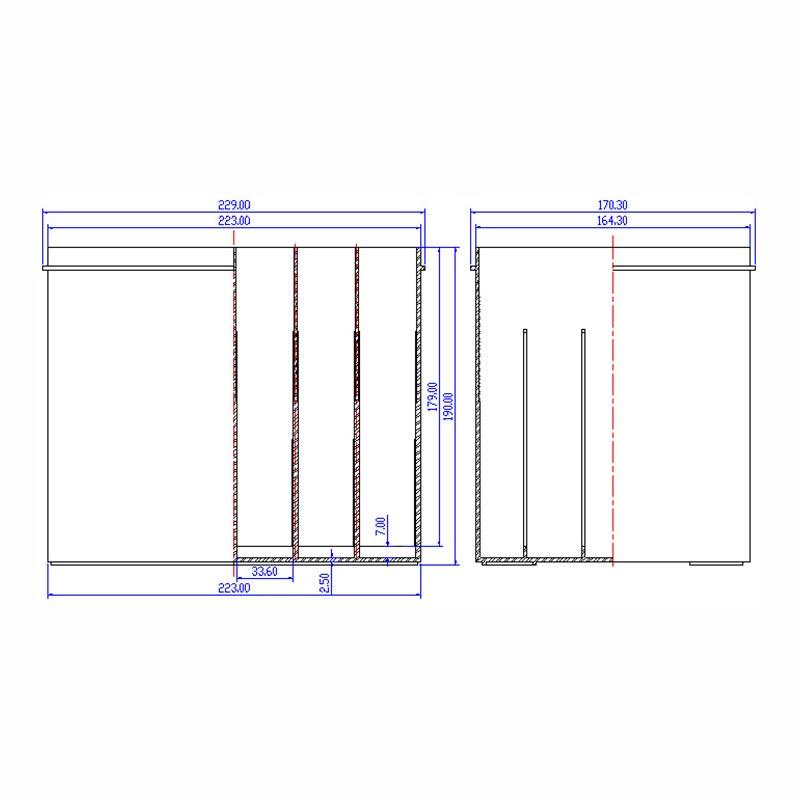 Desenho Técnico Caixa 55D23
