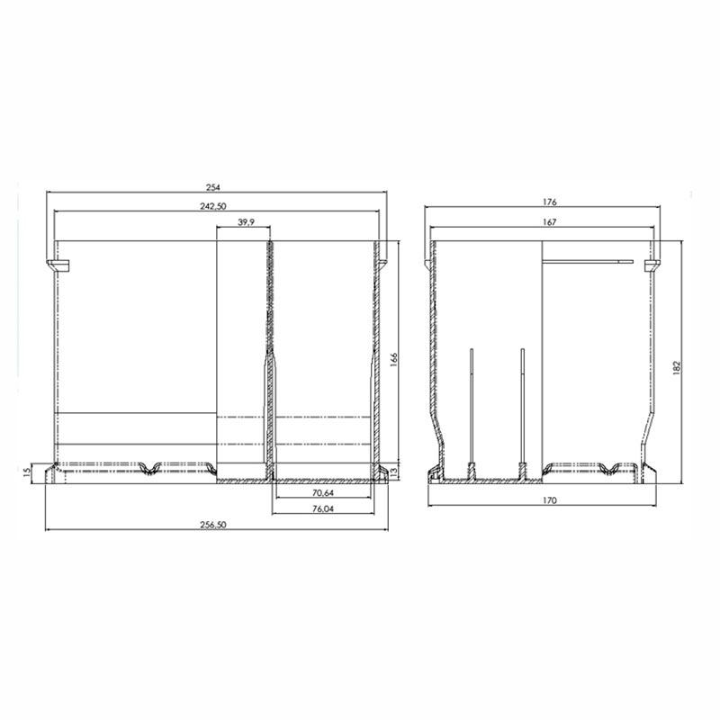 Desenho Técnico Caixa D-06 (6V)