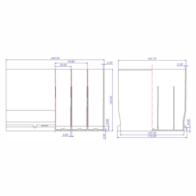 Desenho Técnico Caixa D-152 OPALA