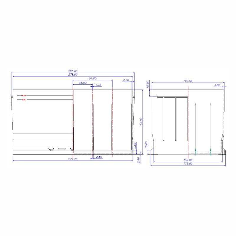 Desenho Técnico Caixa D-20
