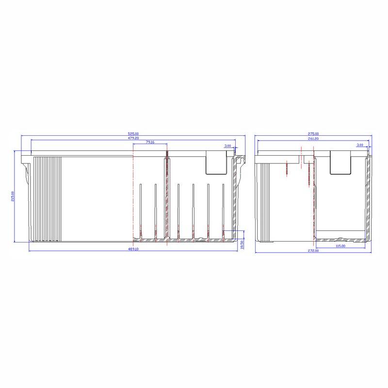 Desenho Técnico Caixa PLX-50
