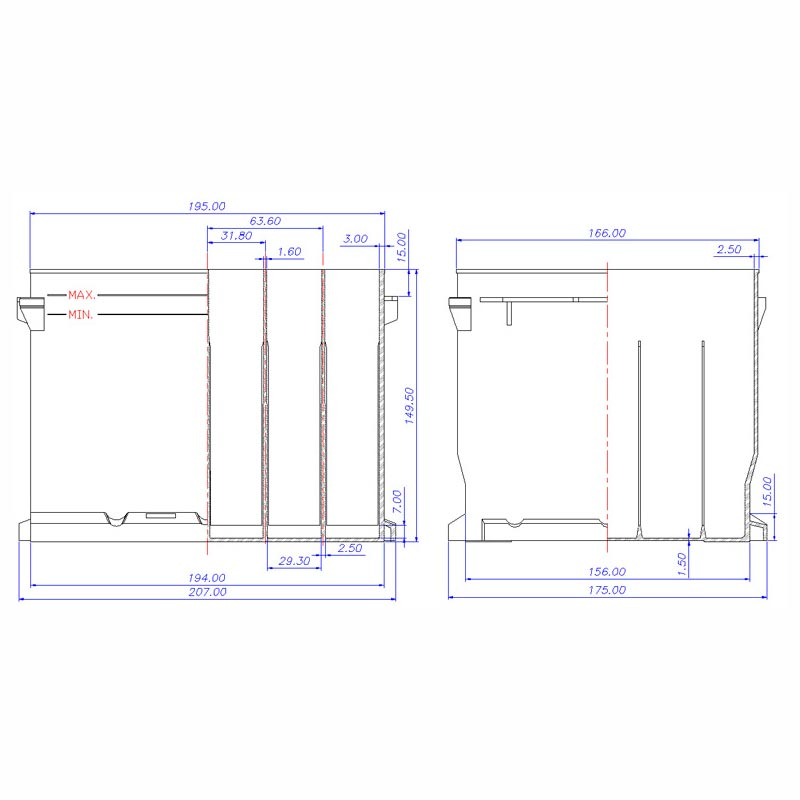 Desenho Técnico Caixa ESCORT