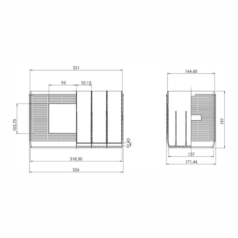 Desenho Técnico Caixa GR-31 (FRISOS)