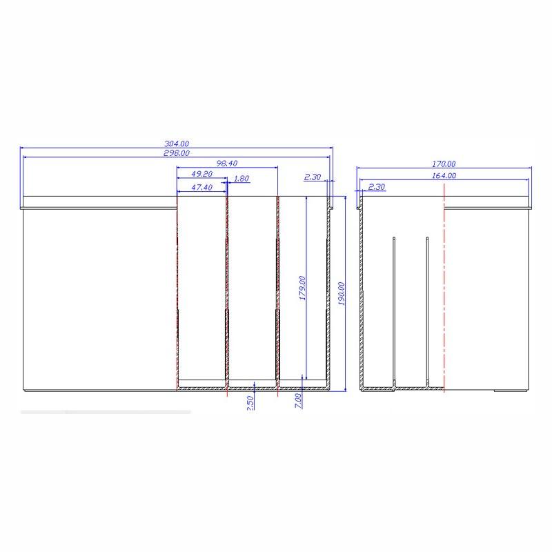 Desenho Técnico Caixa N-70