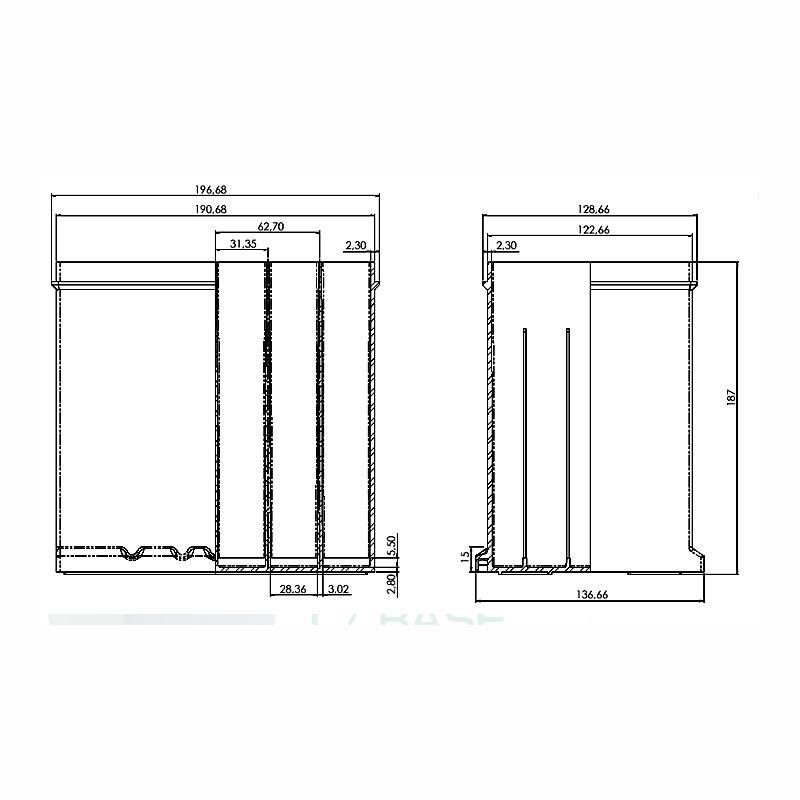 Desenho Técnico Caixa NS-40 COM BASE