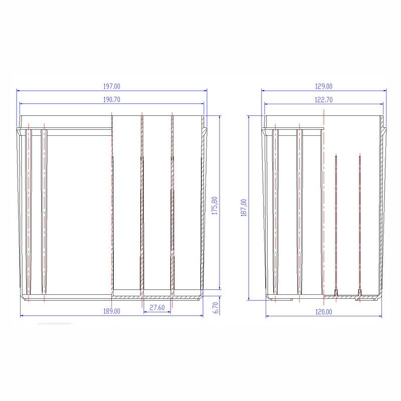 Desenho Técnico Caixa NS-40