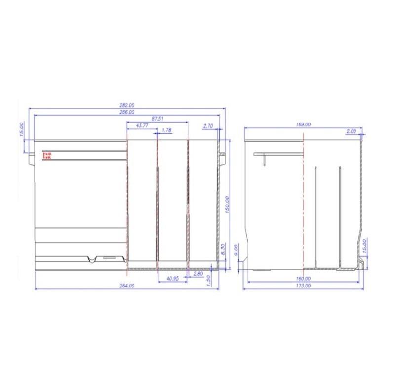 Desenho Técnico Caixa PASSAT / SANTANA