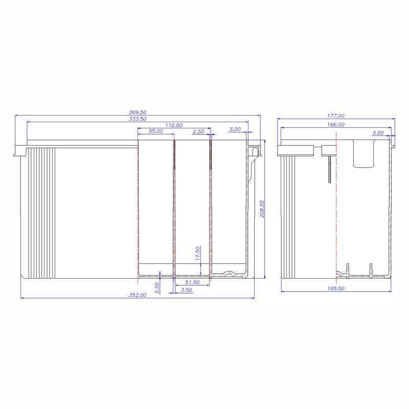 Desenho Técnico Caixa PLX-26