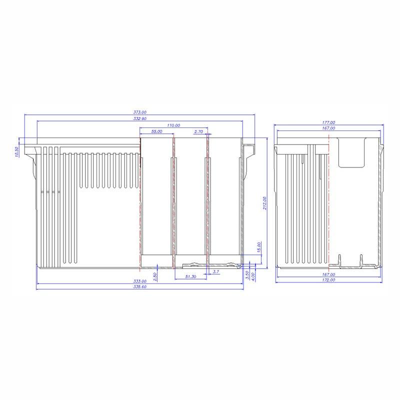 Desenho Técnico Caixa PLX-26P
