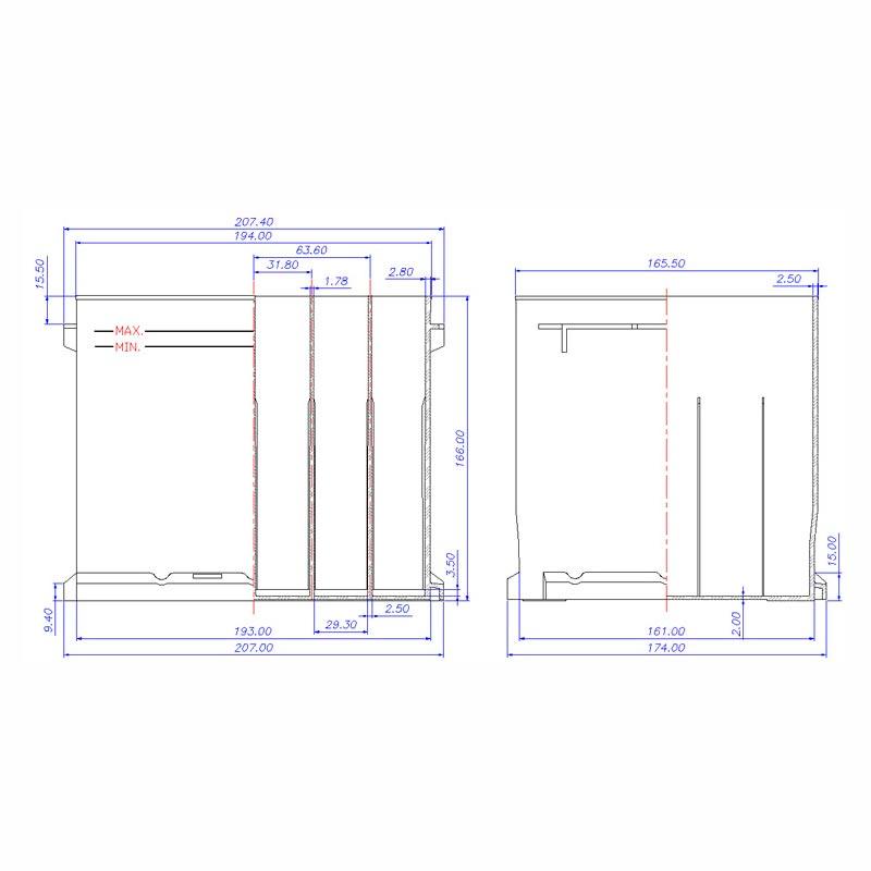 Desenho Técnico Caixa PALIO