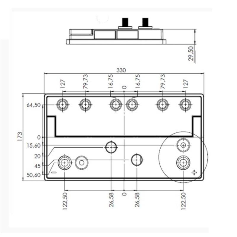 Desenho Técnico Tampa GR-31 (MB) FREE SELADA COM ACESSO