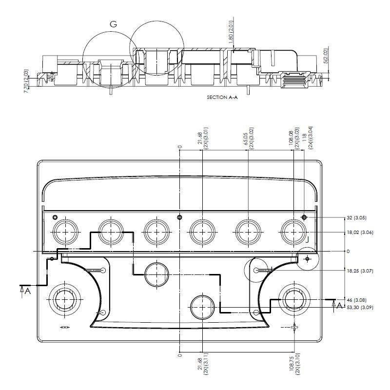Desenho Técnico Tampa L3 TRADICIONAL (Manutenção)
