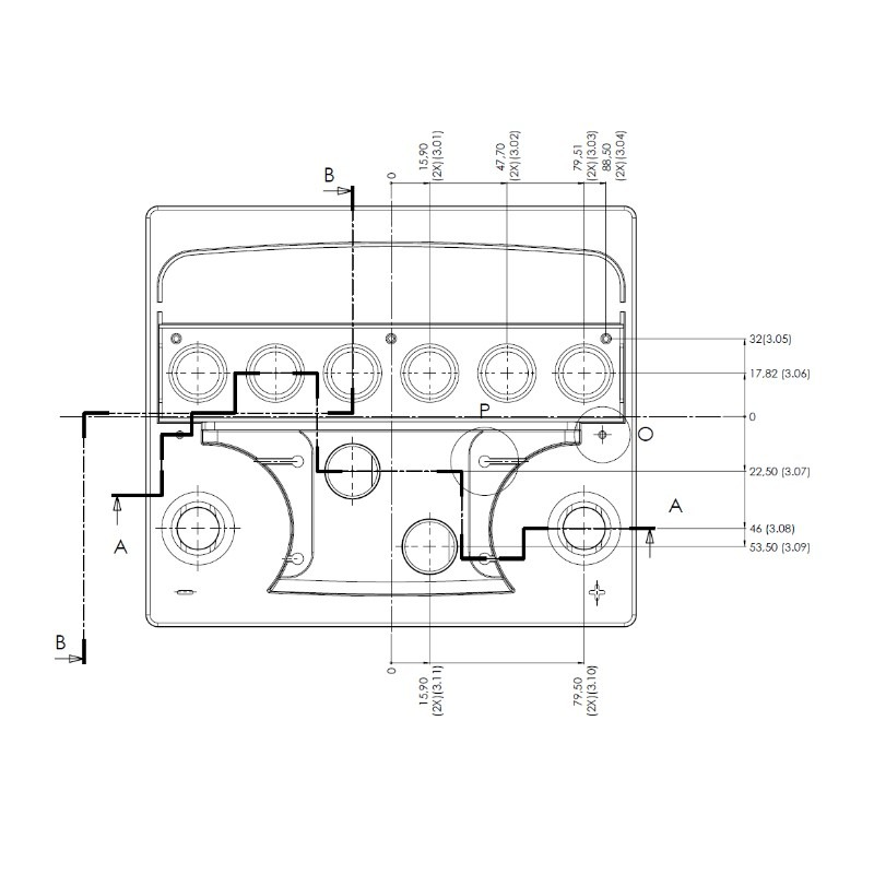 Desenho Técnico Tampa L1 TRADICIONAL (Manutenção)