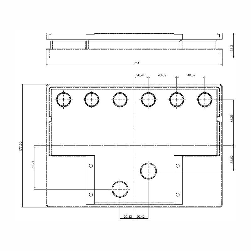 Desenho Técnico Tampa DM OPALA FREE SELADA COM ACESSO
