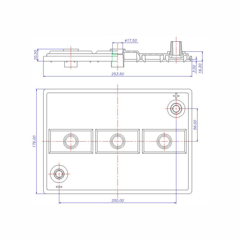 Desenho Técnico Tampa D-006 (6V)