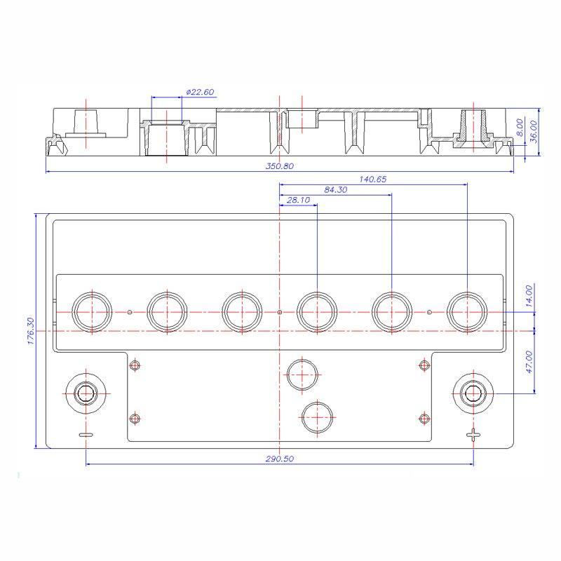 Desenho Técnico Tampa L5 (SPRINTER) TRADICIONAL (Manutenção)