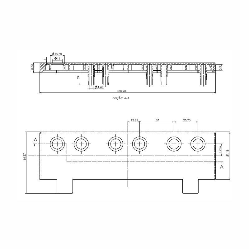 Desenho Técnico Acessório SOBRETAMPA (TAPETA/UPPER LID): NS-40 FREE COM ACESSO