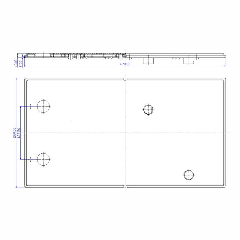 Desenho Técnico Acessório SOBRETAMPA (TAPETA/UPPER LID) PLX-50 FREE (N200)