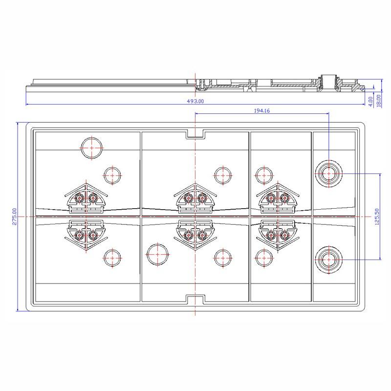 Desenho Técnico Tampa PLX-50