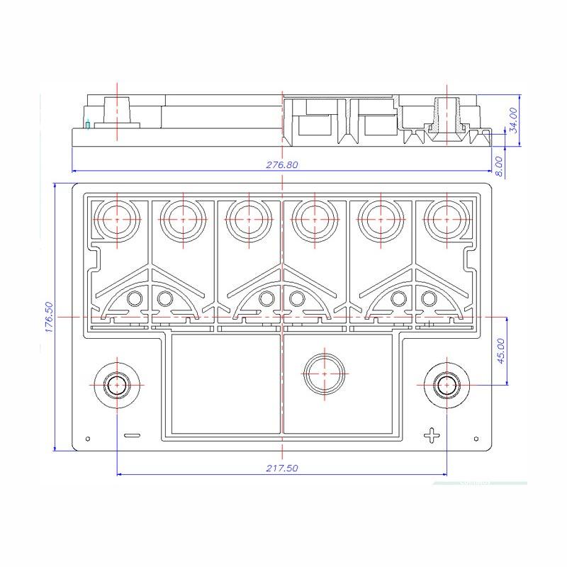 Desenho Técnico Tampa PASSAT/SANTANA FREE
