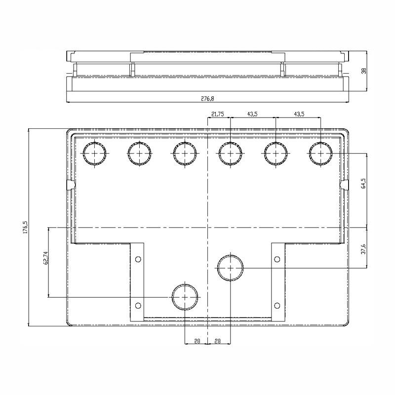 Desenho Técnico Tampa PASSAT/SANTANA FREE SELADA COM ACESSO