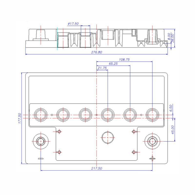 Desenho Técnico Tampa PASSAT/SANTANA TRADICIONAL (Manutenção)