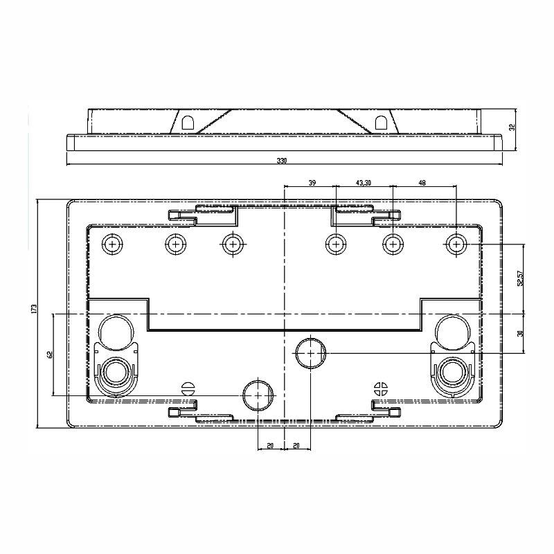Desenho Técnico Tampa GR-31 FREE SELADA COM ACESSO