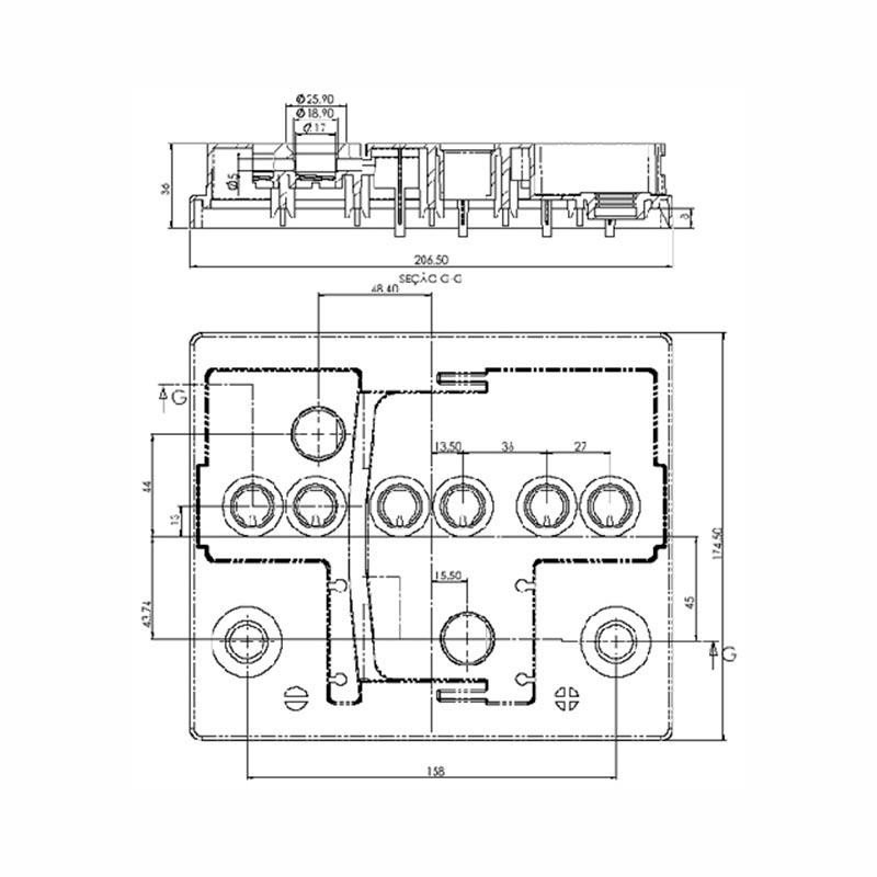 Desenho Técnico Tampa KAMINA L1