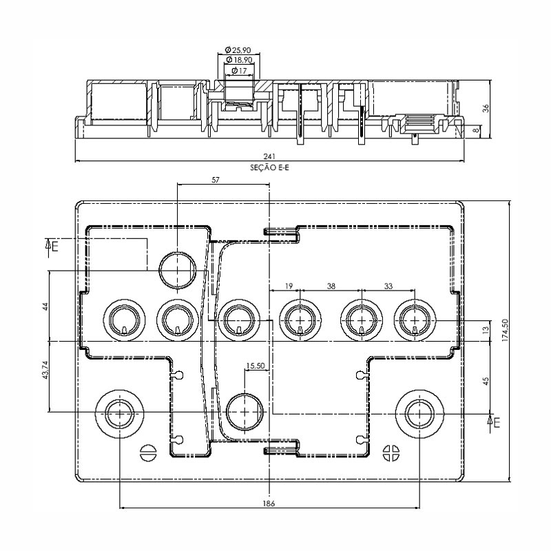 Desenho Técnico Tampa KAMINA L2