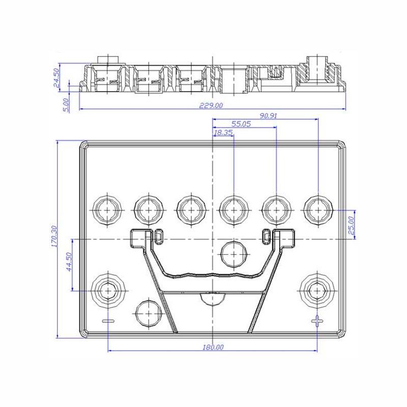 Desenho Técnico Tampa 55D23 TRADICIONAL (Manutenção)