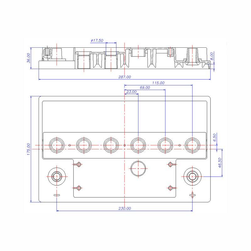 Desenho Técnico Tampa D-20 TRADICIONAL (Manutenção)