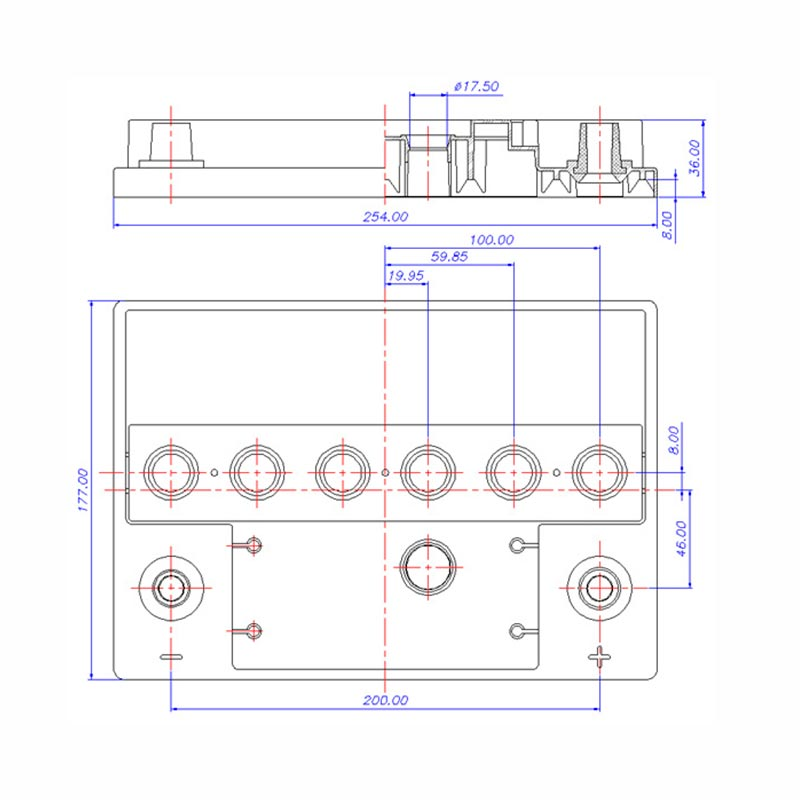 Desenho Técnico Tampa DM OPALA TRADICIONAL (Manutenção)