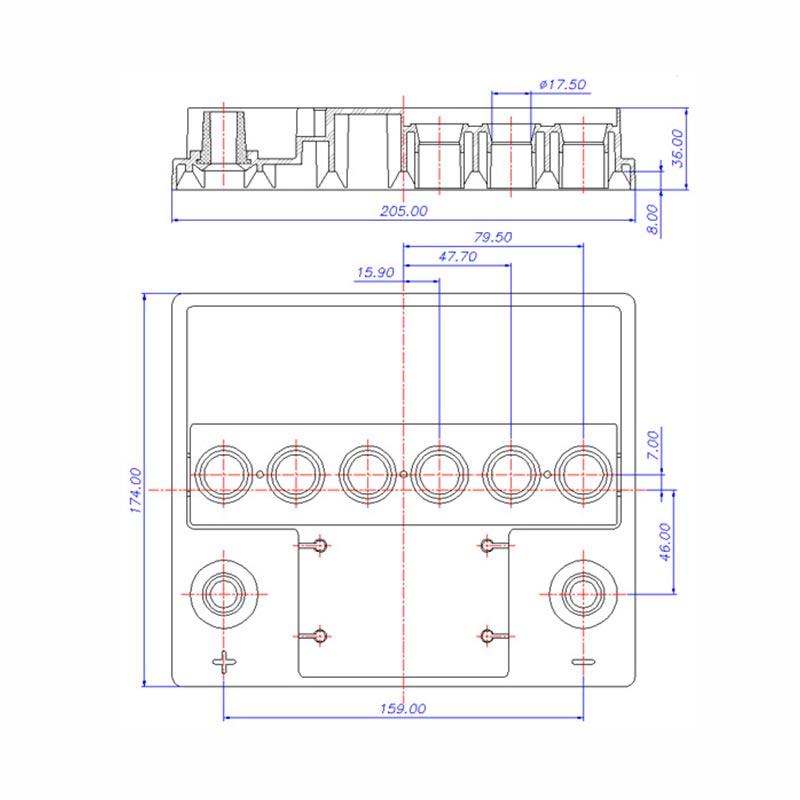 Desenho Técnico Tampa ESCORT TRADICIONAL (Manutenção)