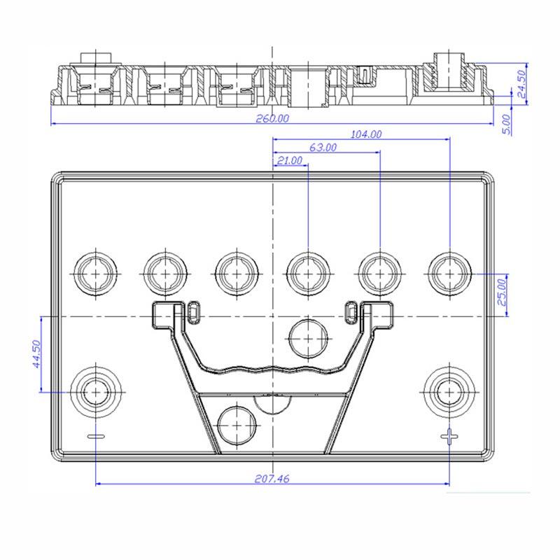 Desenho Técnico Tampa N-50 TRADICIONAL (Manutenção)