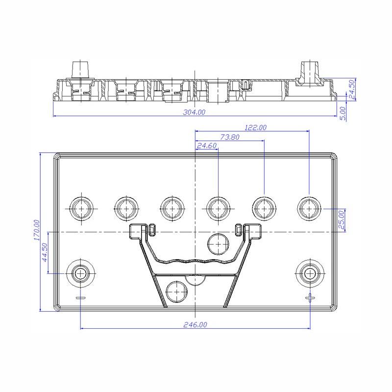 Desenho Técnico Tampa N-70 TRADICIONAL (Manutenção)