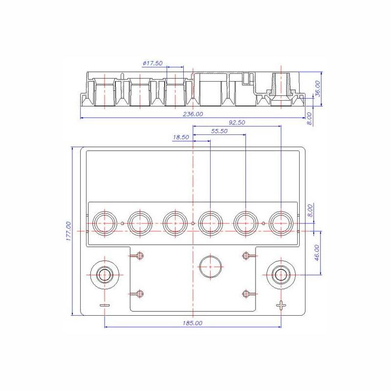 Desenho Técnico Tampa VERONA TRADICIONAL (Manutenção)