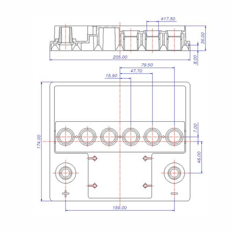 Desenho Técnico Tampa VOLKS TRADICIONAL (Manutenção)