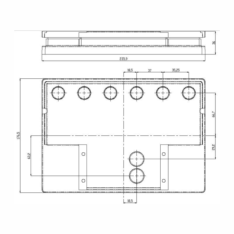 Desenho Técnico Tampa VERONA FREE SELADA COM ACESSO