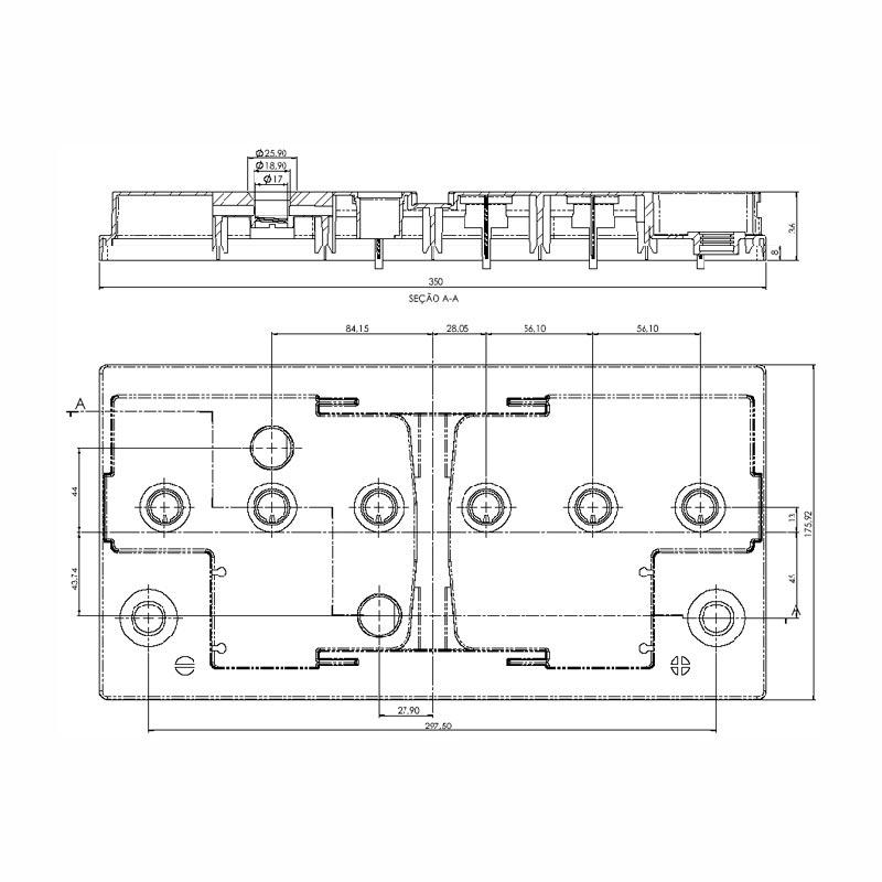 Desenho Técnico Tampa KAMINA L5