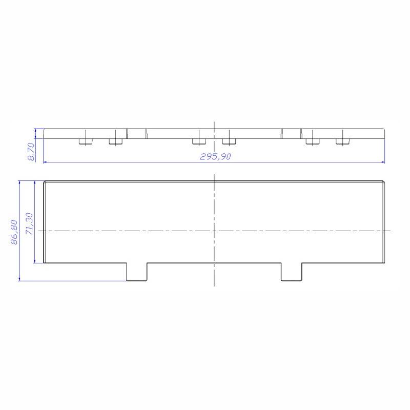 Desenho Técnico Acessório SOBRETAMPA (TAPETA/UPPER LID): N-70 FREE SEM ACESSO