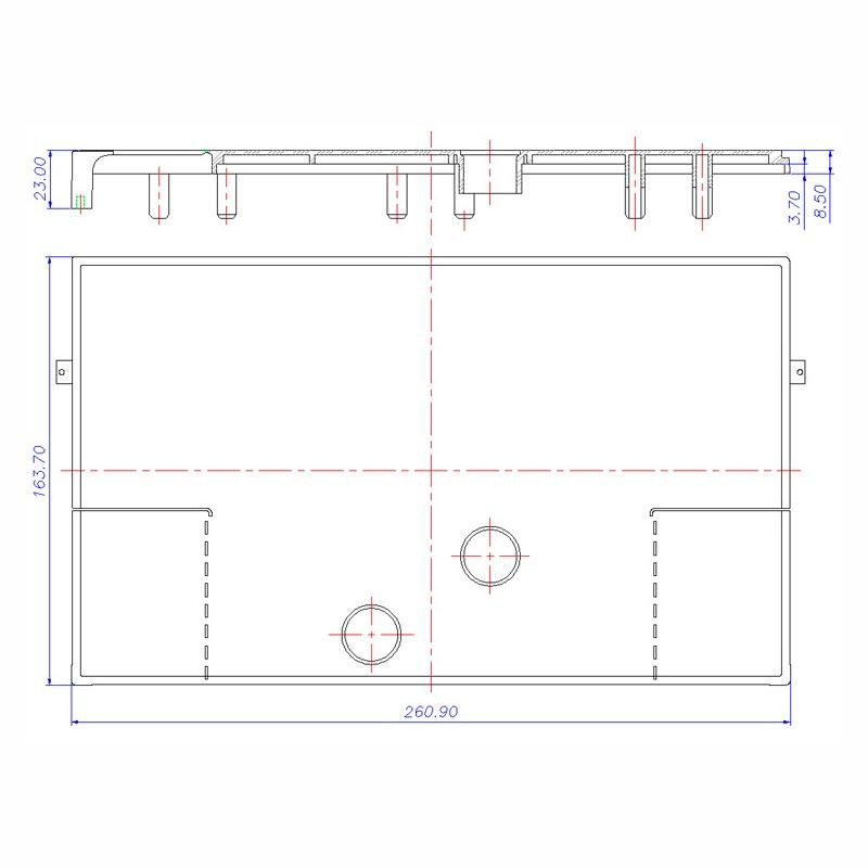 Desenho Técnico Acessório SOBRETAMPA (TAPETA/UPPER LID): PASSAT/SANTANA FREE COM ACESSO