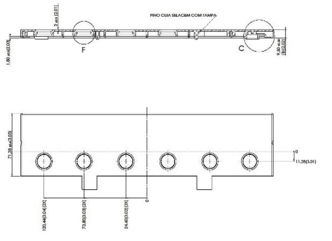 Desenho Técnico Acessório SOBRETAMPA (TAPETA/UPPER LID): N-70 FREE COM ACESSO